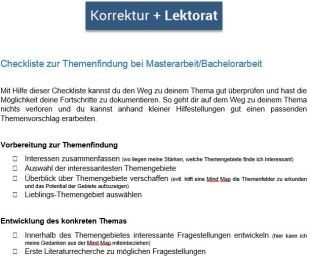 Masterarbeit_Checkliste Themenfindung
